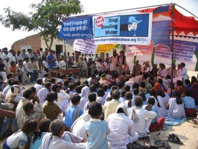 ประท้วงเรื่องน้ำ ที่อินเดีย